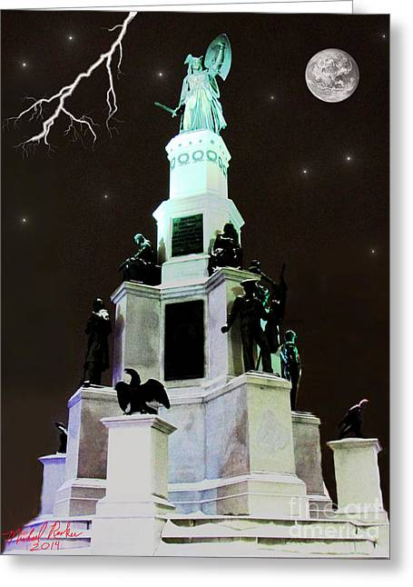 Roger Sherman Greeting Cards - Michigan Soldiers and Sailors Monument Greeting Card by Michael Rucker
