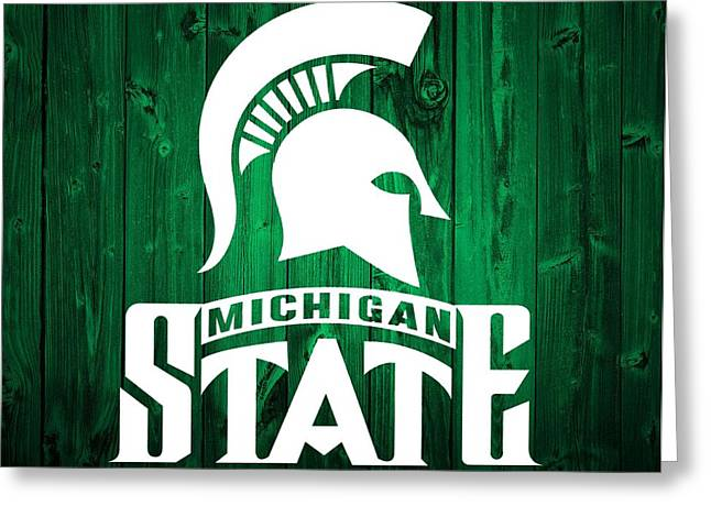 Michigan State Barn Door Greeting Card by Dan Sproul