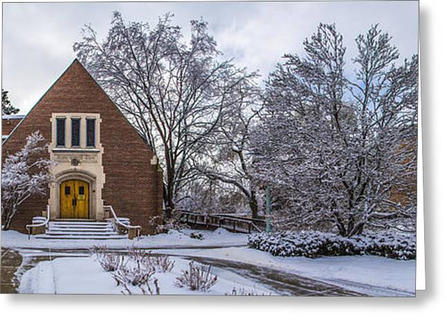 Michigan State Greeting Cards - Michigan State University Chapel Greeting Card by John McGraw