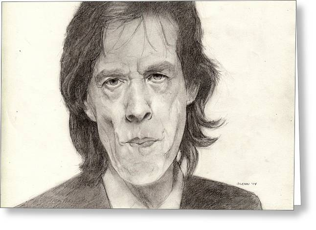 Rollingstone Greeting Cards - Mick Jagger 2 Greeting Card by Glenn Daniels