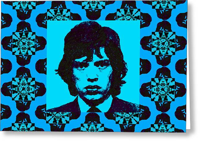 Alcatraz Greeting Cards - Mick Jagger Abstract Window p168 Greeting Card by Wingsdomain Art and Photography