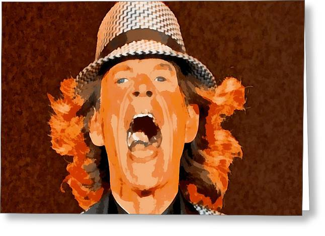 Mick Jagger Poster Greeting Cards - Mick Jagger Greeting Card by Elizabeth Coats