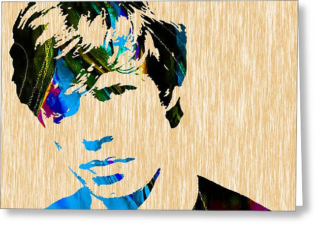 Singer Greeting Cards - Mick Jagger of The Rolling Stones1964 Painting Greeting Card by Marvin Blaine