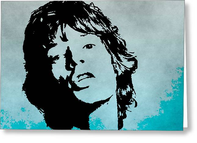 Rolling Stones Greeting Cards - Mick Jagger Poster Greeting Card by Dan Sproul