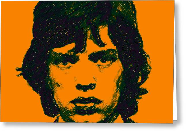Alcatraz Greeting Cards - Mick Jagger square Greeting Card by Wingsdomain Art and Photography