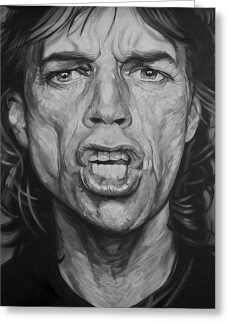 Rolling Stones Greeting Cards - Mick Jagger Greeting Card by Steve Hunter