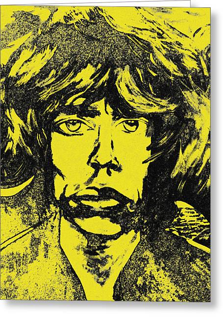 Mick Jagger Poster Greeting Cards - Mick Jagger Two Greeting Card by Kevin J Cooper Artwork