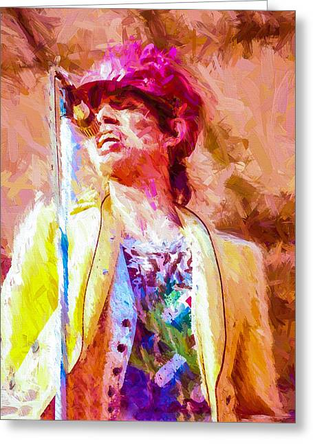 The Glimmer Twins Greeting Cards - Mick Jagger Greeting Card by Vivian Frerichs