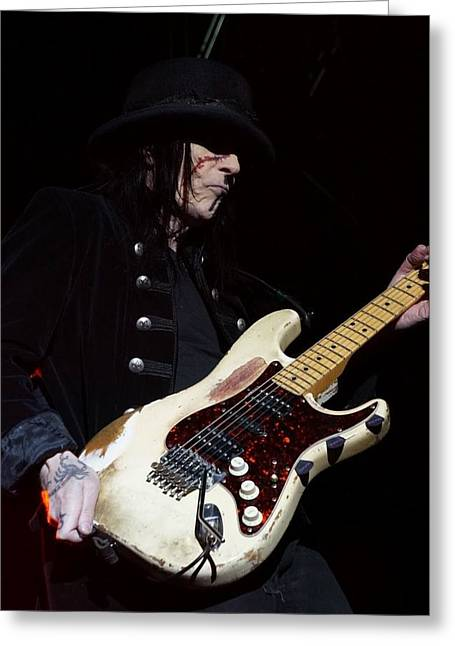 Recently Sold -  - Vince Greeting Cards - Mick Mars Solo Greeting Card by Melissa C