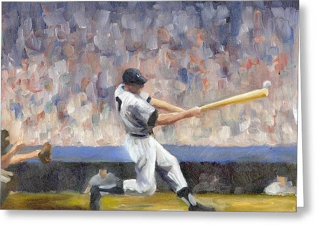 Bronx Bombers Greeting Cards - Mickey Greeting Card by Joe Maracic