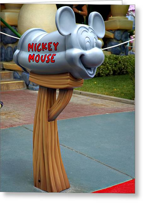 Anaheim California Greeting Cards - Mickey Mail Greeting Card by Ricky Barnard