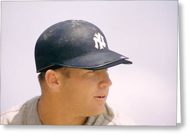 Mickey Mantle Ready To Swing Greeting Card by Retro Images Archive