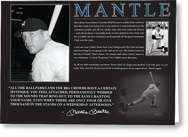 Mickey Mantle Greeting Cards - Mickey Mantle Greeting Card by Retro Images Archive