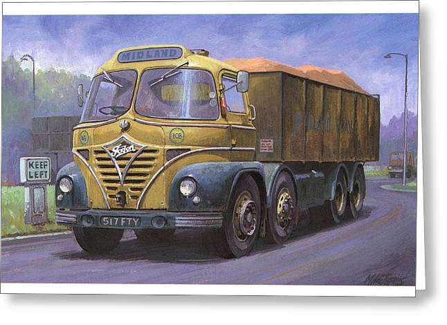 Lorries Greeting Cards - Mickey Mouse Foden. Greeting Card by Mike  Jeffries