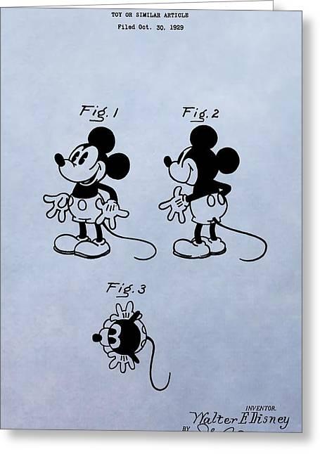 Mouse Digital Greeting Cards - Mickey Mouse Patent Greeting Card by Dan Sproul