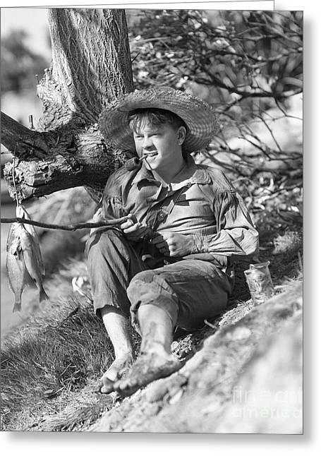 Tom Boy Greeting Cards - Mickey Rooney at Tom Sawyer Greeting Card by MMG Archives