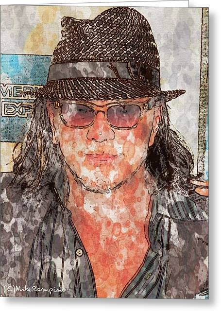 Rourke Greeting Cards - Mickey Rourke  Greeting Card by Mike Rampino