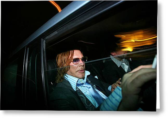 Rourke Greeting Cards - Mickey Rourke  Greeting Card by Paul Sutcliffe