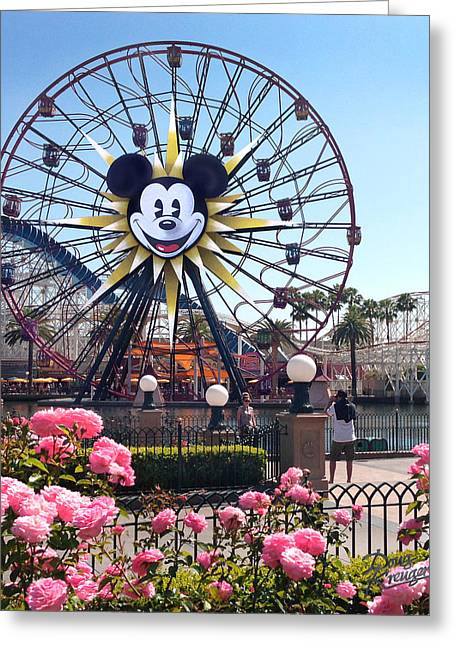 Mickey's Fun Wheel Greeting Card by Doug Kreuger