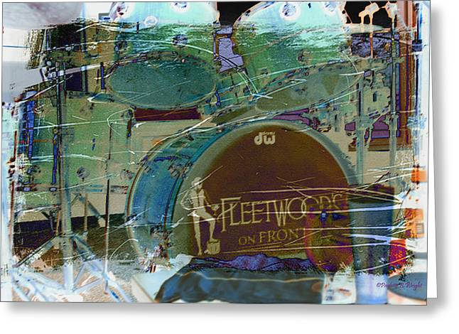 Mick's Drums Greeting Card by Paulette B Wright
