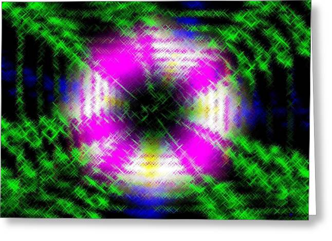 Intrigue Greeting Cards - Micro Linear 42 Greeting Card by Will Borden