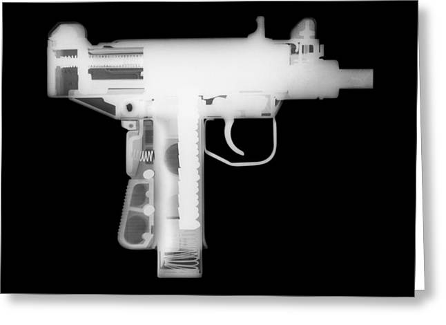 357 Greeting Cards - Micro Uzi Reverse Greeting Card by Ray Gunz