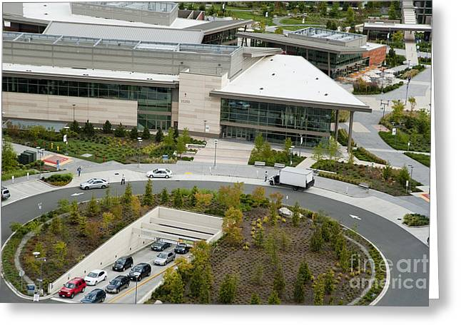 Microsoft Corporate Headquarter's West Campus Redmond WA Greeting Card by Andrew Buchanan via Latitude Image