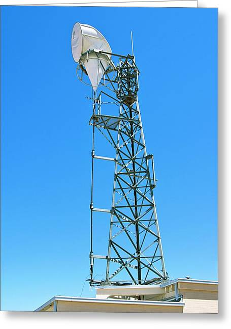 Microwave Horn Antenna. Greeting Card by Mark Williamson