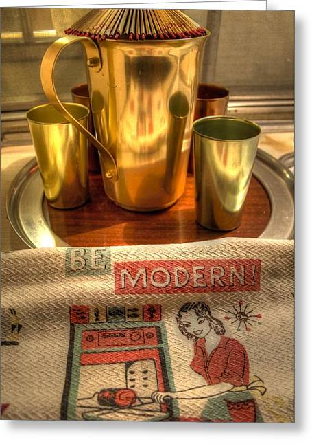 Tumbler Greeting Cards - Mid Century Modern  Greeting Card by Jane Linders