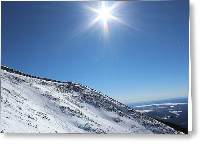 Snowbowl Greeting Cards - Mid-day Ascent Greeting Card by Kurt Baker