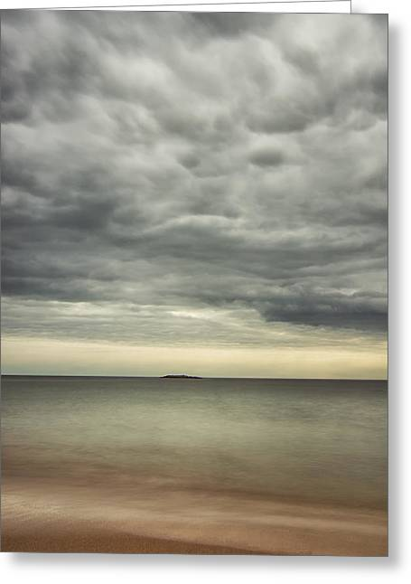 Maine Beach Greeting Cards - mid day at Sand Beach Greeting Card by Chad Tracy