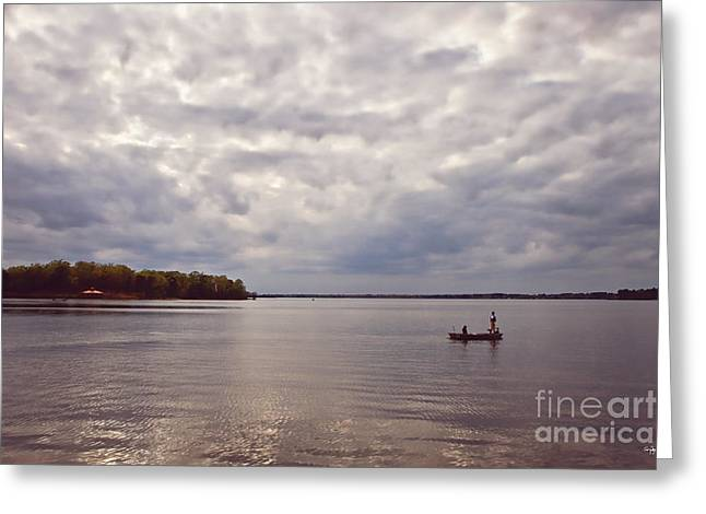 Mid Lake Storm Greeting Card by Scott Pellegrin
