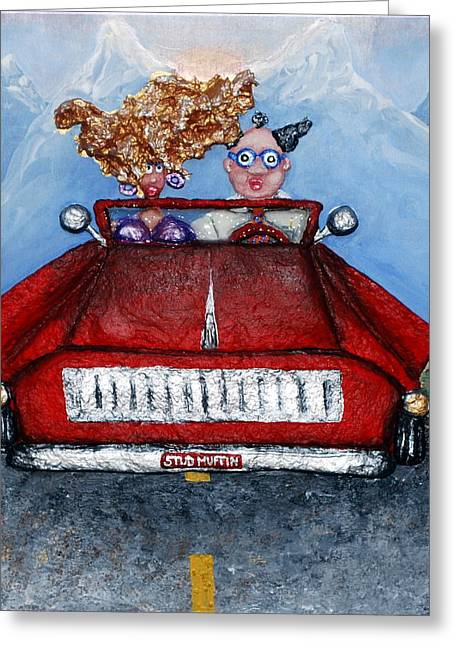 Life Reliefs Greeting Cards - Mid-Life Crisis Greeting Card by Alison  Galvan