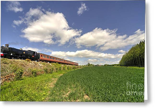 Pannier Greeting Cards - Mid Norfolk Steam  Greeting Card by Rob Hawkins