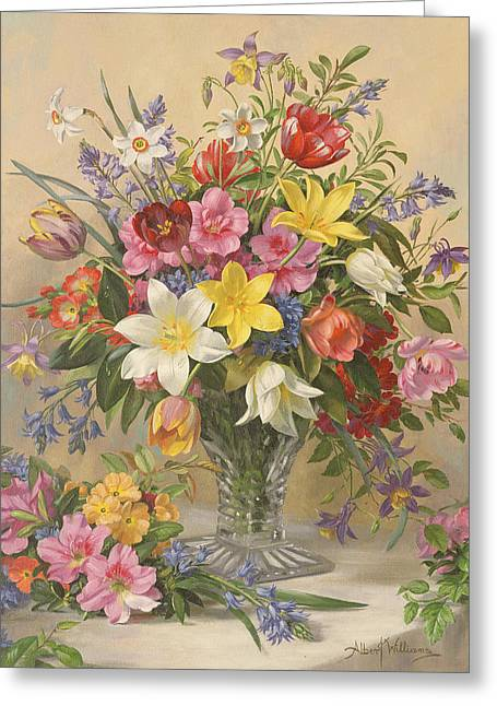 Mid Spring Glory Greeting Card by Albert Williams