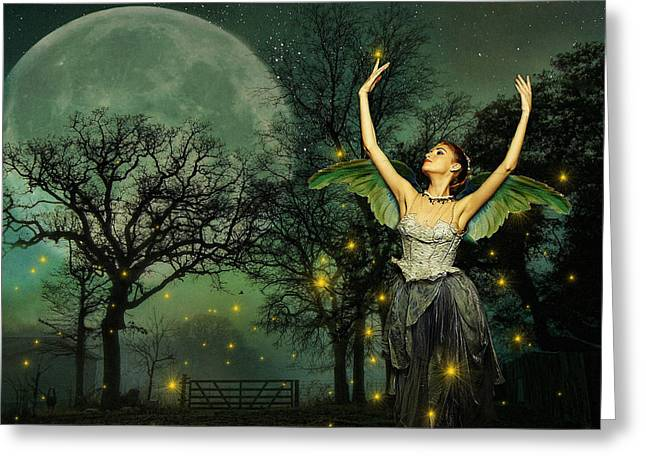 Digipho333 Studio Greeting Cards - Mid-Summers Night Dream Greeting Card by Shannon Story