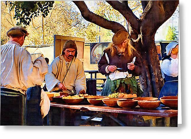 Gypsy Greeting Cards - Midday Feast Greeting Card by Cindy Nunn