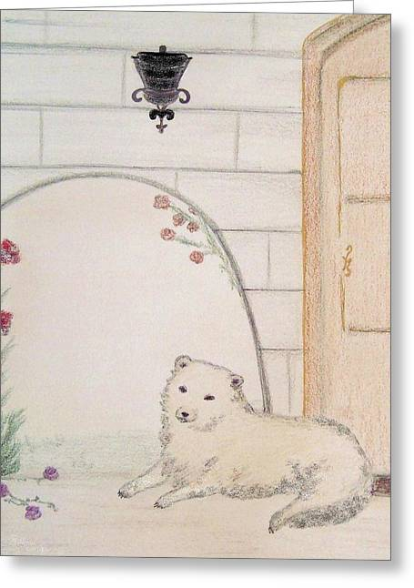 Husky Pastels Greeting Cards - Midday Repose Greeting Card by Christine Corretti