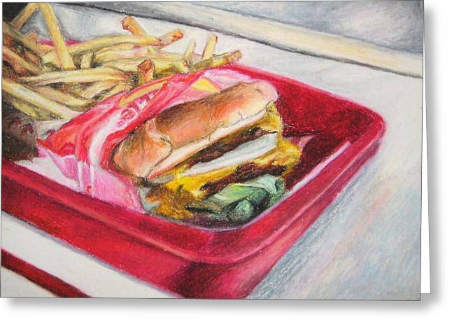 Fast Food Pastels Greeting Cards - Midday Snack Greeting Card by Kim Cyprian