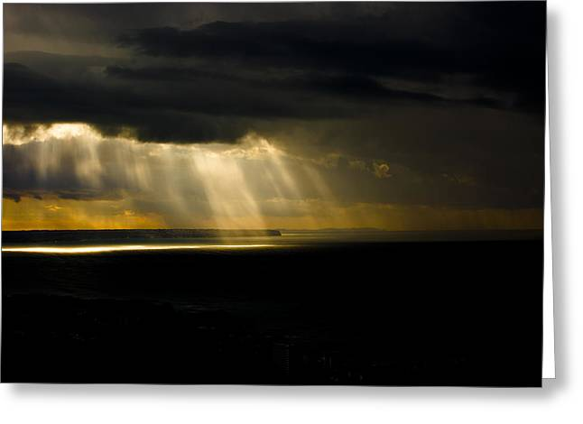 Ocen Landscape Greeting Cards - Midday Storm Greeting Card by Emilio Lopez