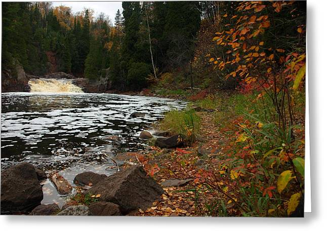 Middle Falls Tettegouche Greeting Card by James Peterson