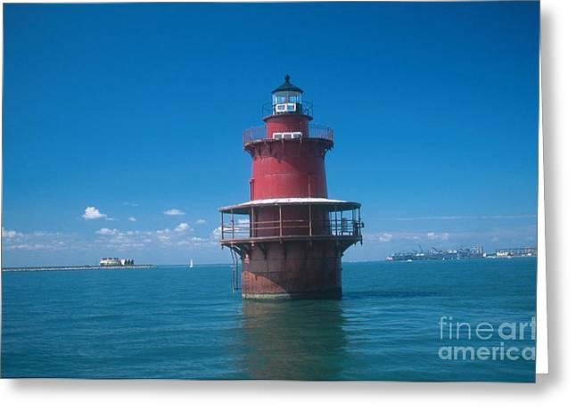 Middle Ground Greeting Cards - Middle Ground Lighthouse, Va Greeting Card by Bruce Roberts