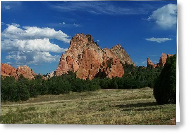 Landscape Posters Greeting Cards - Middle Of Garden Of The Gods Greeting Card by Chris Flees
