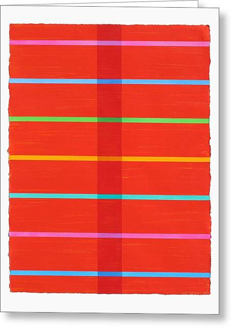 Transparency Geometric Greeting Cards - Middle Stripe III Greeting Card by Amy Van Helden