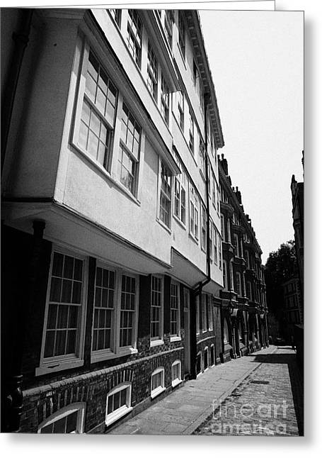 Overhang Greeting Cards - middle temple lane London England UK Greeting Card by Joe Fox