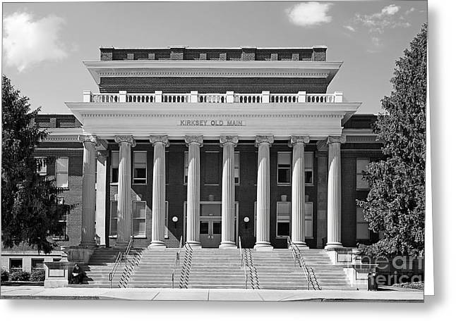 Normal Greeting Cards - Middle Tennessee State Kirksey Old Main Greeting Card by University Icons