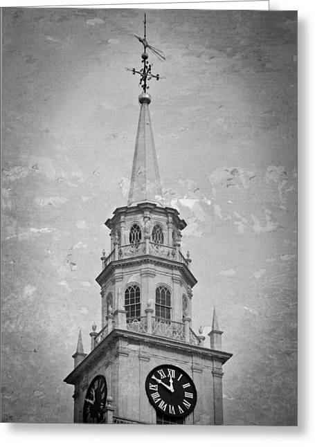 Weathervane Greeting Cards - Middlebury Steeple Greeting Card by Joanne Shedrick