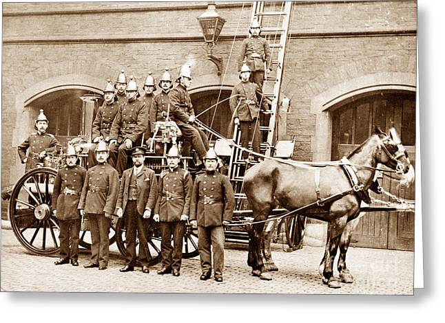 Brigade Greeting Cards - Middlesbrough Fire Brigade England Greeting Card by The Keasbury-Gordon Photograph Archive