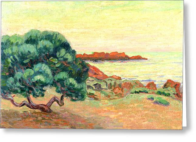 Sea View Greeting Cards - Midi Landscape Greeting Card by Jean Baptiste Armand Guillaumin