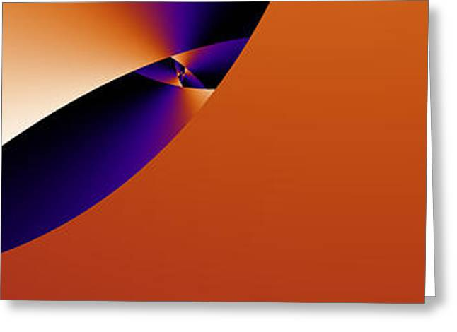 Geometric Digital Art Greeting Cards - Midian Greeting Card by Steven Gouws